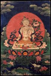 Manjushri (Bodhisattva & Buddhist Deity): White (Siddhaikavira)