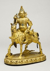 Vaishravana (Buddhist Protector): Riding a Lion (Retinue Figure)