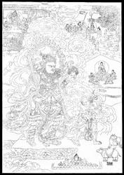 Direction Guardian (Buddhist Deity): Virudhaka (South)