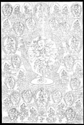 Vajrasattva (Buddhist Deity): Samputa Tantra (3 faces, 6 hands)