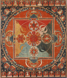 Vajrayogini (Buddhist Deity): (4 Faces, 12 Arms)