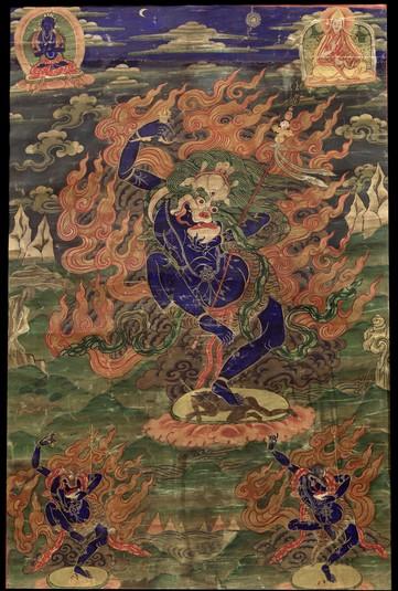 Simhamukha (Buddhist Deity) - (Bari Lineage) (Himalayan Art)
