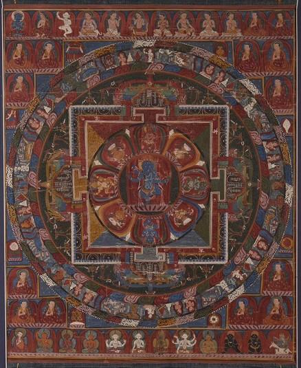 Mandala of Mahamaya (Buddhist Deity) - (right leg down