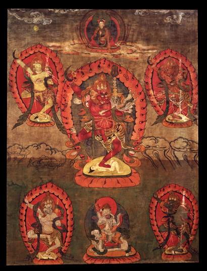 Simhamukha (Buddhist Deity) - Red (Himalayan Art)