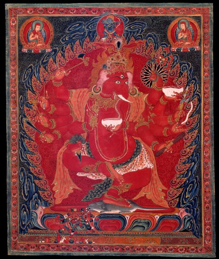 Ganapati (Indian God & Buddhist Deity) - Red (12 hands) (Himalayan ...